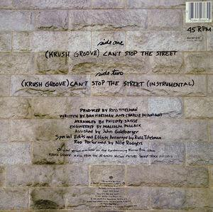 Back Cover Single Chaka Khan - Can't Stop The Street