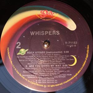Back Cover Single The Whispers - Rock Steady
