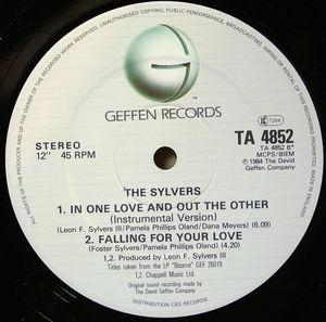 Back Cover Single Sylvers - In One Love And Out The Other