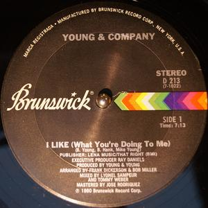 Back Cover Single Young And Company - I Like (What You're Doing To Me)
