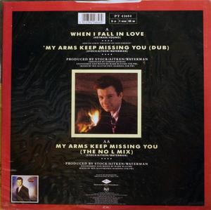 Back Cover Single Rick Astley - When I Fall In Love
