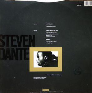 Back Cover Single Steven Dante - Love Follows