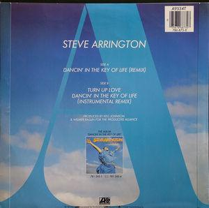 Back Cover Single Steve Arrington - DANCING IN THE KEY OF LIFE