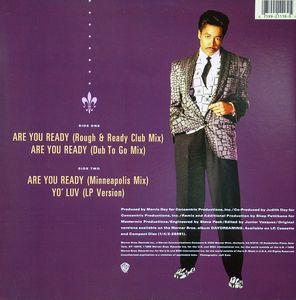 Back Cover Single Morris Day - Are You Ready