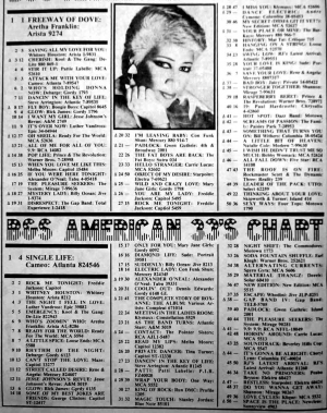American 45s and 33s Soul Funk chart September 1985