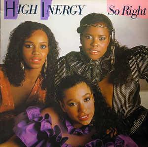 Album  Cover High Inergy - So Right on GORDY Records from 1982