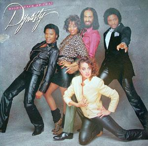 Album  Cover Dynasty - Right Back At Cha! on SOLAR Records from 1982