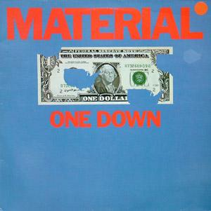 Album  Cover Material - One Down on CELLULOID Records from 1982