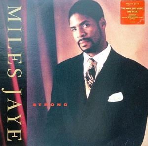 Album  Cover Miles Jaye - Strong on ISLAND Records from 1991