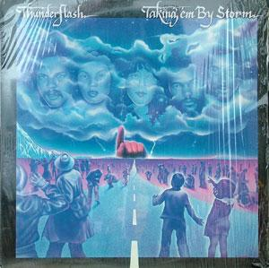 Front Cover Album Thunderflash - Taking' Em By Storm