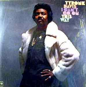 Front Cover Album Tyrone Davis - I Can't Go On This Way