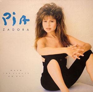 Album  Cover Pia Zadora - When The Lights Go Out on EPIC Records from 1988