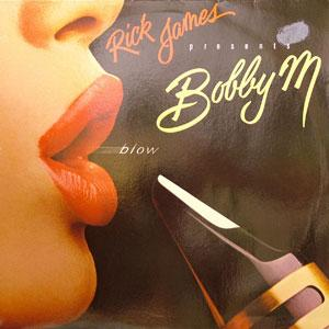 Album  Cover Rick James Presents Bobby M - Blow on GORDY Records from 1982