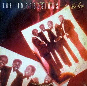 Front Cover Album The Impressions - Fan The Fire