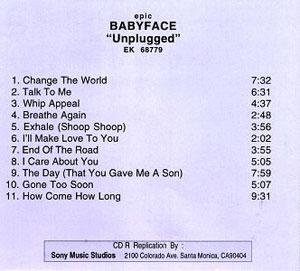 Album  Cover Babyface - Mtv Unplugged Nyg 1997 on EPIC Records from 1998