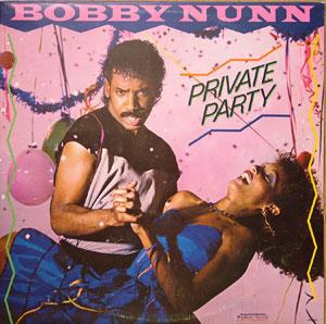Album  Cover Bobby Nunn - Private Party on MOTOWN Records from 1983