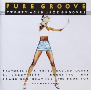 Album  Cover Various Artists - Pure Groove Twenty Acid Jazz Grooves on CRIMOSN Records from 1998