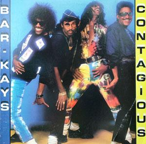 Album  Cover The Bar Kays - Contagious on MERCURY Records from 1987