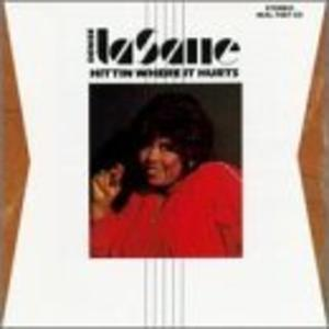 Album  Cover Denise Lasalle - Hittin' Where It Hurts on MALACO Records from 1988