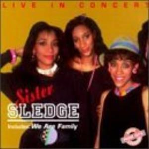 Front Cover Album Sister Sledge - Live In Concert
