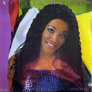 Album  Cover Alicia Myers - I Appreciate on MCA Records from 1984