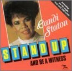 Album  Cover Candi Staton - Stand Up And Be A Witness on BLUE MOON Records from 1990