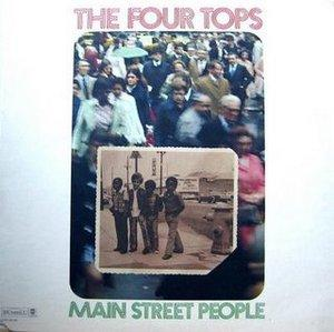 Front Cover Album The Four Tops - Main Street People