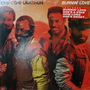 Album  Cover Con Funk Shun - Burnin' Love on MERCURY Records from 1986