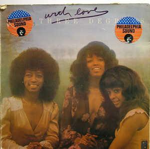 Front Cover Album The Three Degrees - With Love
