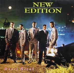 Album  Cover New Edition - Heart Break on MCA Records from 1988