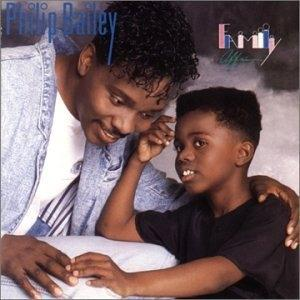 Album  Cover Philip Bailey - Family Affair on MYRRH Records from 1989