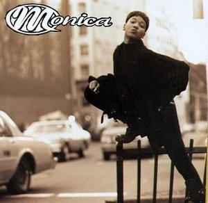 Album  Cover Monica - Miss Thang on ROWDY Records from 1995