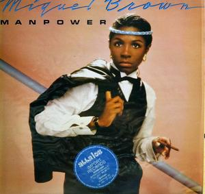 Album  Cover Miquel Brown - Manpower on CARRERE Records from 1983