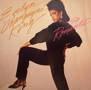 Album  Cover Evelyn 'champagne' King - So Romantic on RCA Records from 1984