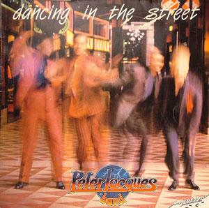 Album  Cover Peter Jacques Band - Dancing In The Street on SOLAR Records from 1985