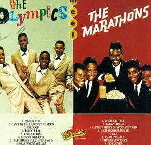 Album  Cover The Marathons - The Olympics Meet The Marathons on ACE Records from 1985