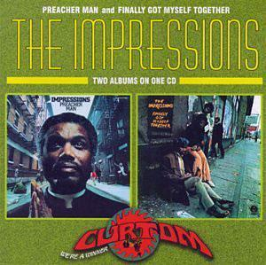 Album  Cover The Impressions - Preacher Man on CURTOM Records from 1973
