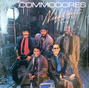 Front Cover Album Commodores - Nightshift