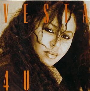 Album  Cover Vesta Williams - 4u on A&M Records from 1988