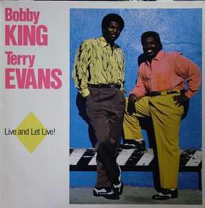 Album  Cover Bobby King - Live And Let Live! on MUNICH Records from 1988