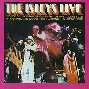 Album  Cover The Isley Brothers - Live on ELEKTRA Records from 1993