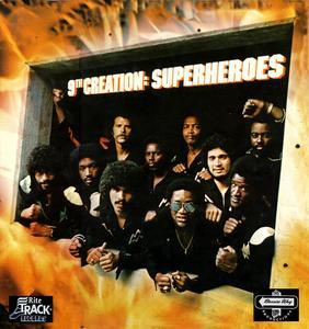 Album  Cover The 9th Creation - Superheroes on HILTAK Records from 1979