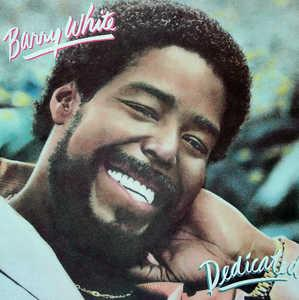 Album  Cover Barry White - Dedicated on UNLIMITED GOLD Records from 1983