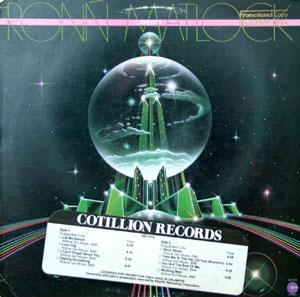 Album  Cover Ronn Matlock - Love City on COTILLION Records from 1979
