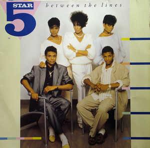 Album  Cover Five Star - Between The Lines on TENT Records from 1987