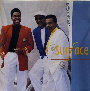 Album  Cover Surface - 3 Deep on COLUMBIA Records from 1990