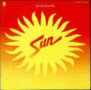Album  Cover Sun - Live On, Dream On on CAPITOL Records from 1976