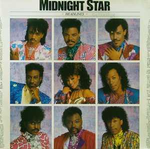 Album  Cover Midnight Star - Headlines on SOLAR Records from 1986