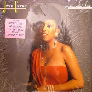 Album  Cover Jean Carne - You're A Part Of Me on ATLANTIC Records from 1988