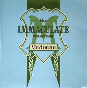 Album  Cover Madonna - The Immaculate Collection on SIRE Records from 1990